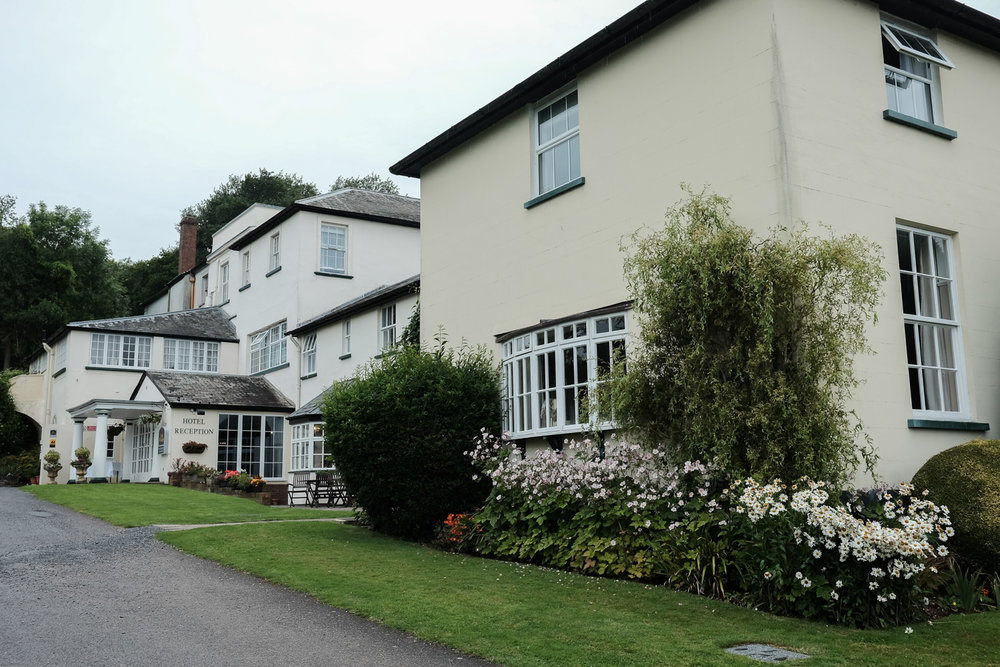 the outside of the lovely Lord Haldon Hotel in Devon