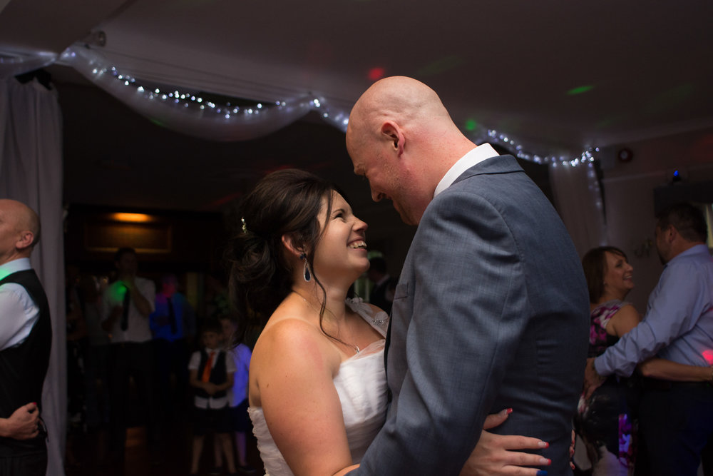 first dance at The Lord Haldon Hotel in Devon