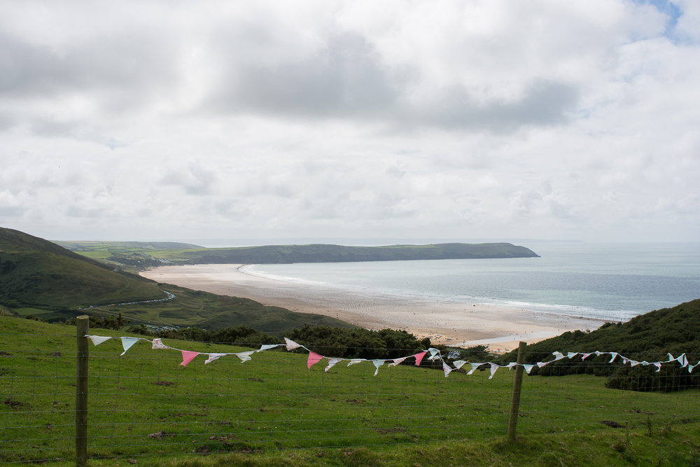 beautiful view of the beach at woolacombe