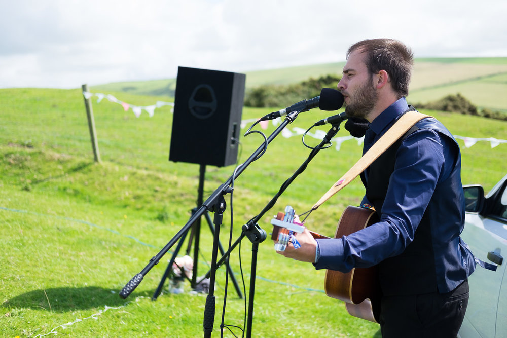 live music at festival wedding in woolacombe