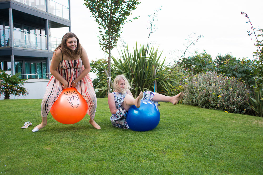 space hopper races at The St Ives Harbour Hotel Cornwall
