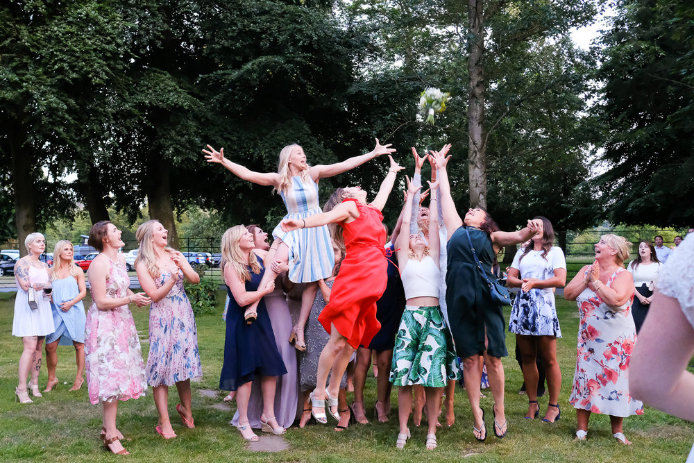 Catching The bouquet at Bridwell Park in Devon