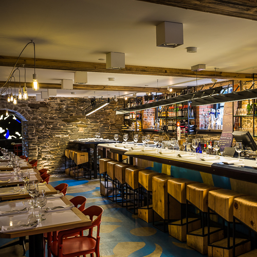Interior design, setting, ambiance, environment and atmosphere at the restaurant Barsa Taberna in Toronto