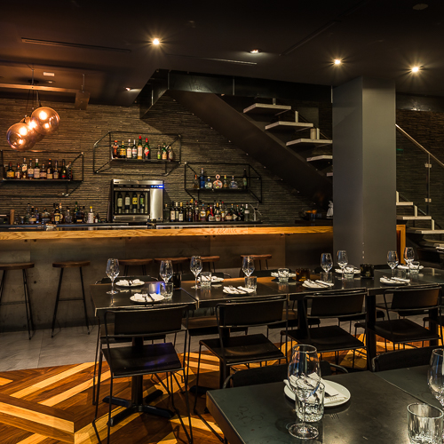 Interior design, setting, ambiance, environment and atmosphere at the restaurant Parcae in Toronto