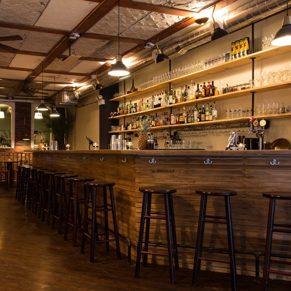 Interior design, setting, ambiance, environment and atmosphere at the bar and restaurant Civil Liberties in Toronto