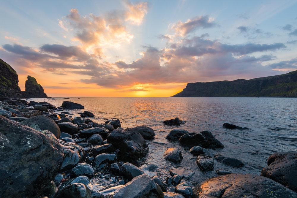 Talisker Bay sunset 1