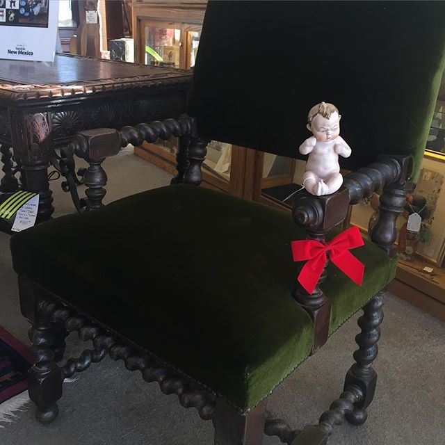 Fussy Gus making purchases look cozy as usual. #chair#vintage#fruniture#albuquerque
