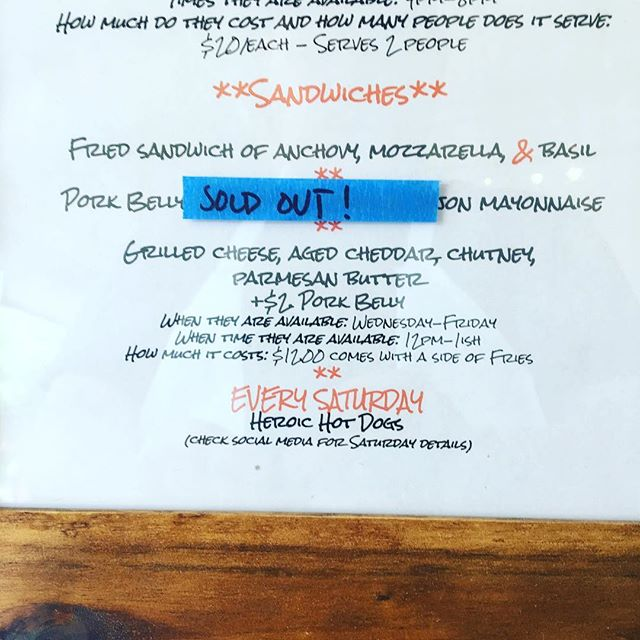 Updated menu 12-1 #lunch #rvadine #treatyoself