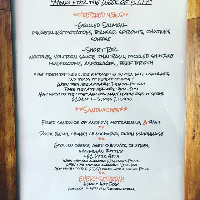Menu this week! #eatwithusathome #rvadine #preparedmeals