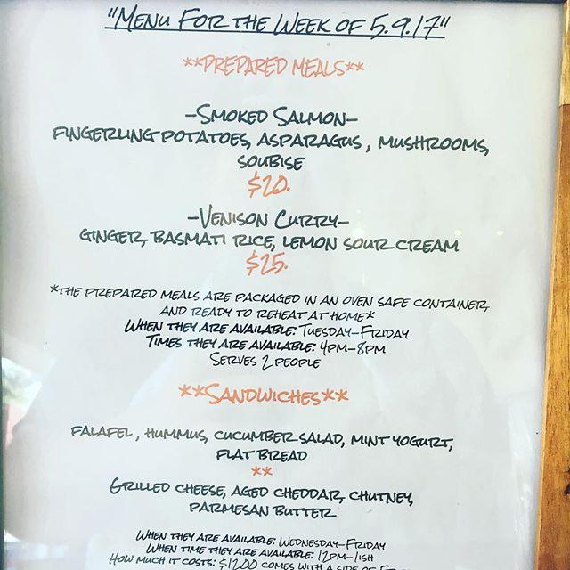 Menu this week at @stroopsrva . Subject to change😀 #rvadine #eatwithusathome #treatyoself #preparedmeals
