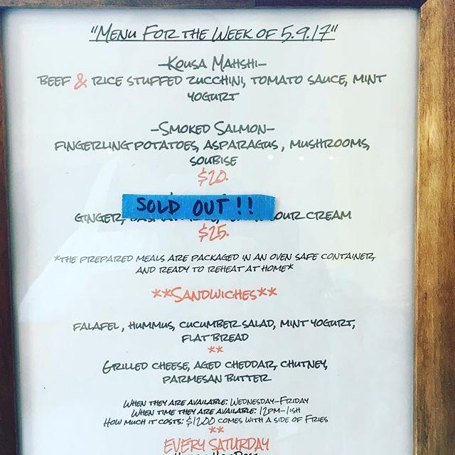Menu update.falafel is back! #rvadine #treatyoself #delicious #falafel
