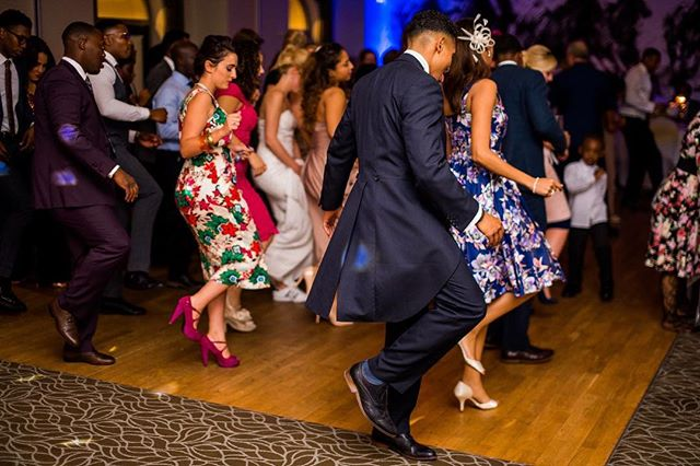 Slaying the dance floor. - Photo credit @jamesaphotography.co.uk #djlife #hybrdentertainment #weddings #venues #music #party #dancing #bride #groom #booth #lighting #throwbackthursday