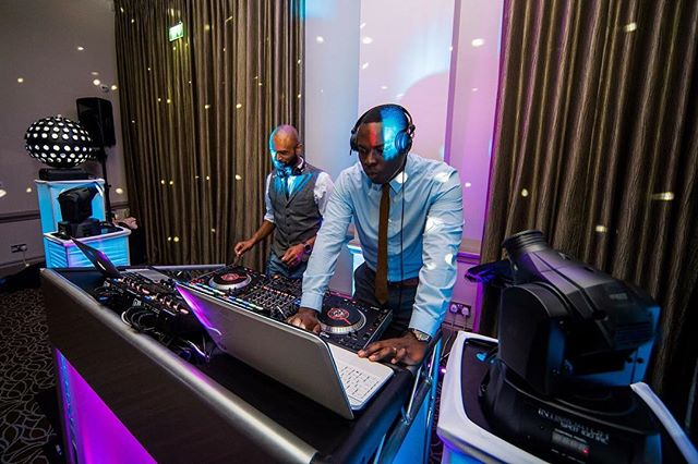 B2B with @towersnaps playing the finest Soul, Funky, House, UKG, RnB. Photo credit - @jamesaphotography.co.uk #djlife #hybrdentertainment #weddings #venues #music #party #dancing #booth #lighting #house #ukfunky #ukg #soul #motown #rnb #traktordj #seratodj #throwbackthursday