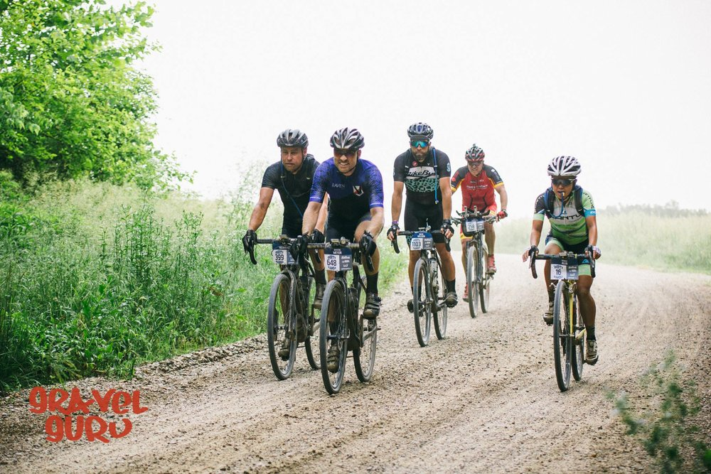 staying hydrated and riding with a good group through the first leg. photo:  matt fowler/Gravel guru