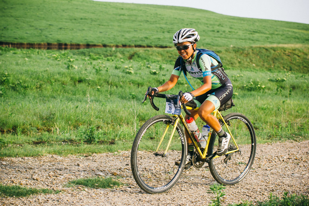 riding through the jagged, sharp gravel of the flint hills. Photo:  matt Fowler/Gravel guru