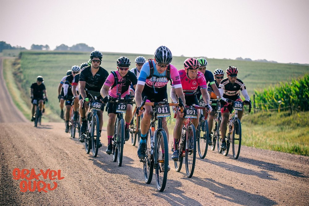 Don looking strong at the front of the pack at Gravel Worlds photo:  Gravel Guru