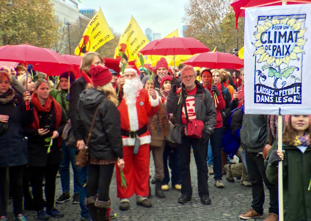 Santa Clause always comes to climate talks. Where will he go when the ice is gone?