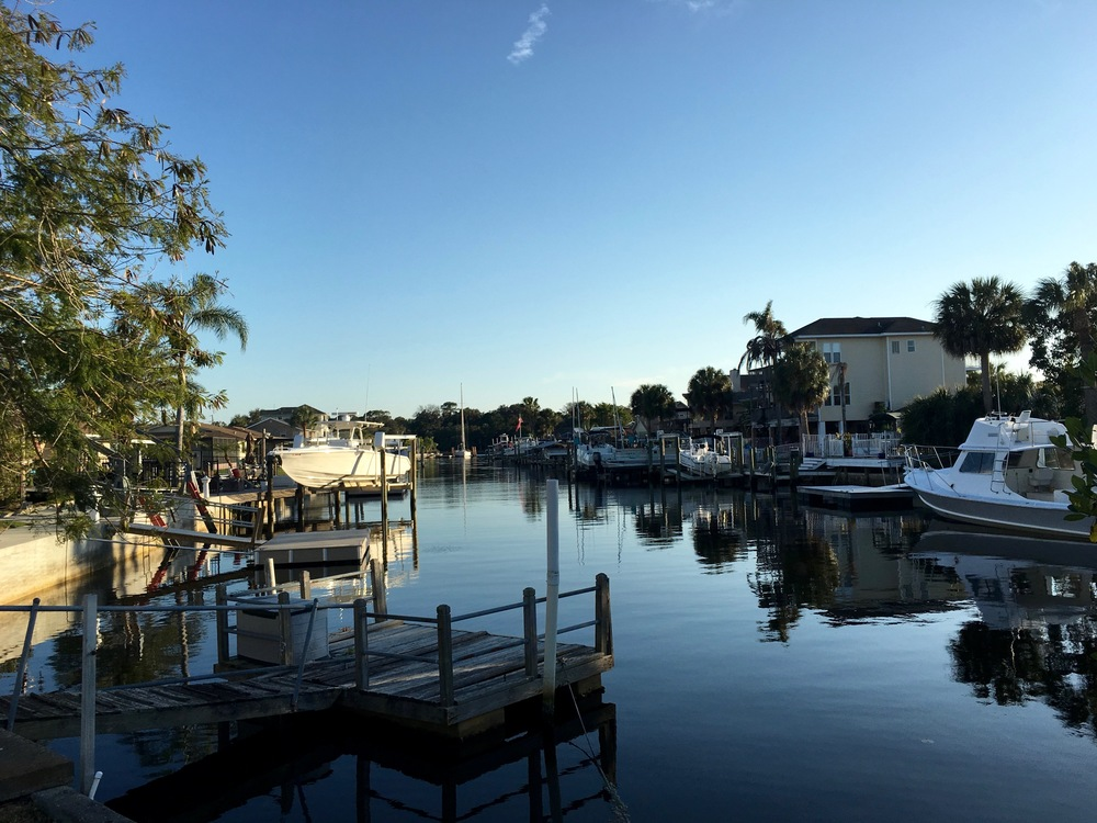 One of many countless neighborhood canals on the west coast of Florida.