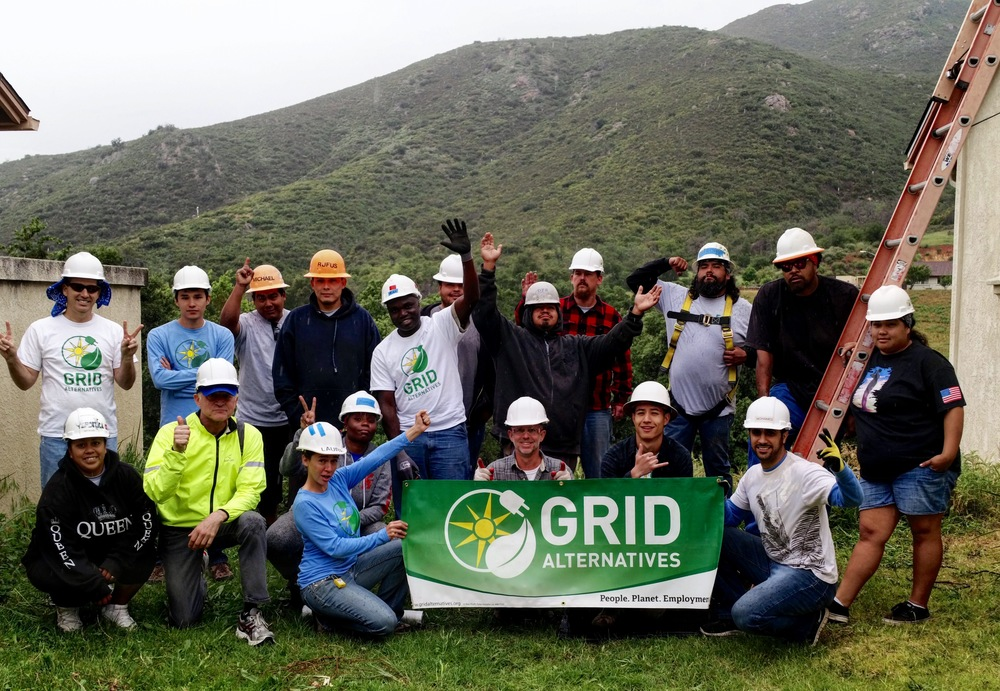 The amazing staff and volunteers at Mesa Grande working for GRID, San Diego.