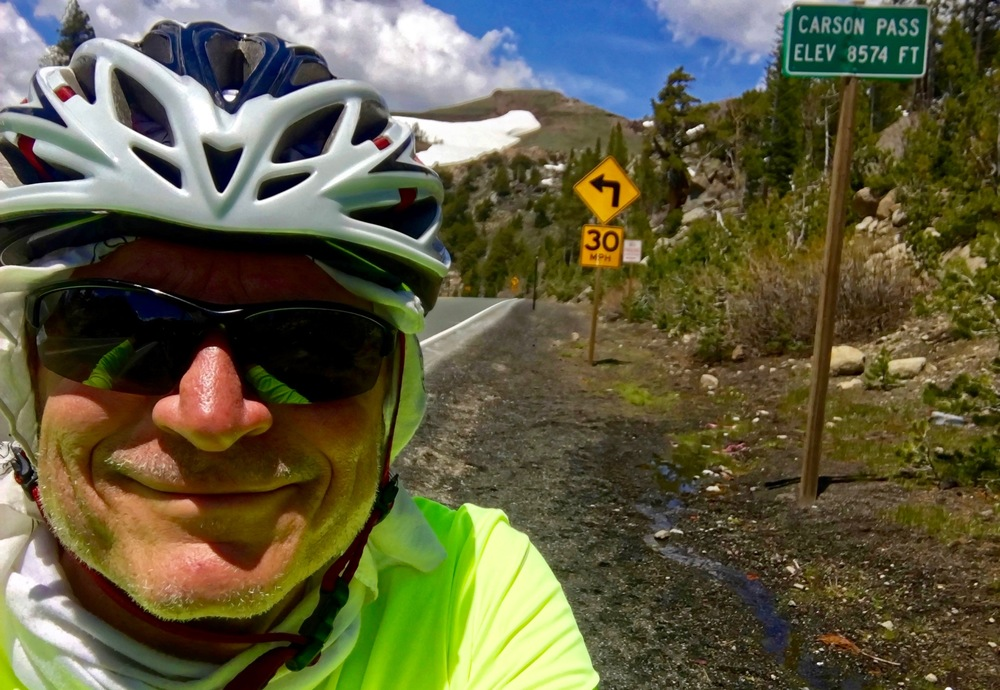 A selfie of me at Carson Pass. This was the route used by the original Mormons, and once was called the Emigrant Trail.
