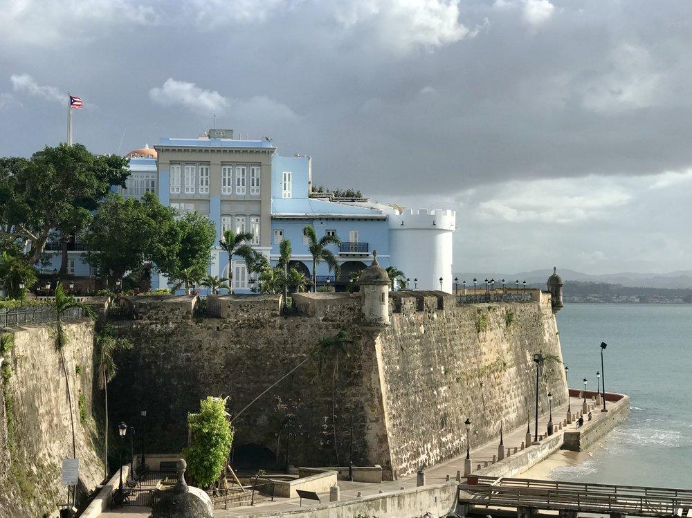 A beautiful day in Old San Juan.