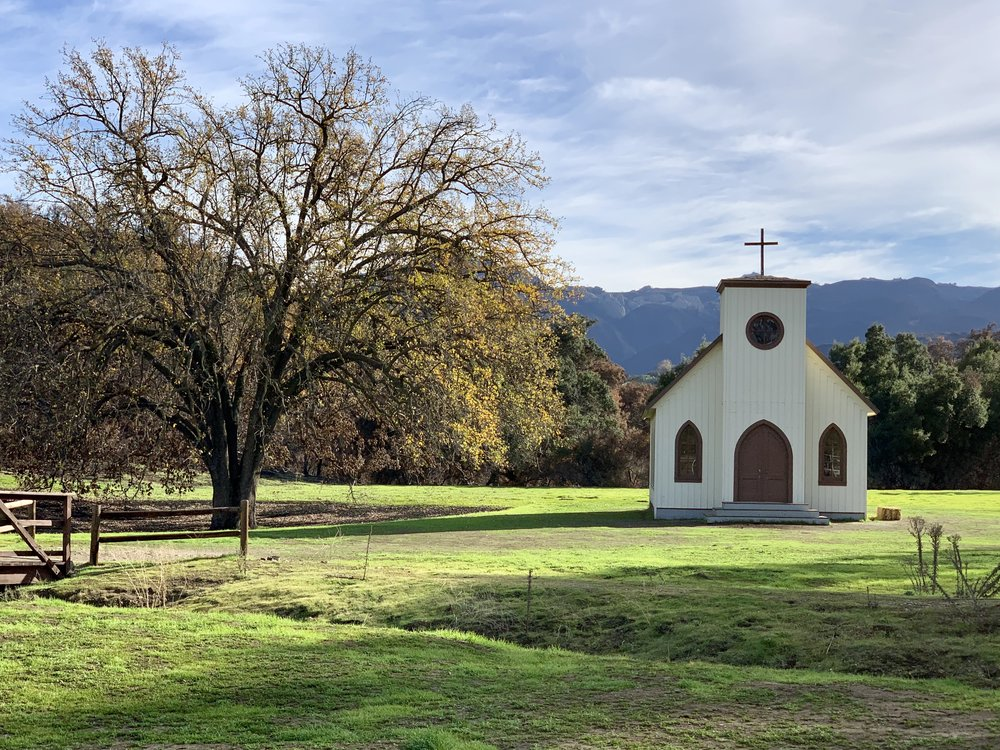 The church still remains at Paramount Ranch; it and the railroad station also survived while the main set was destroyed in the Woolsey    Fire. We've all watched countless westerns filmed at this constructed town setting since the early 1900's.
