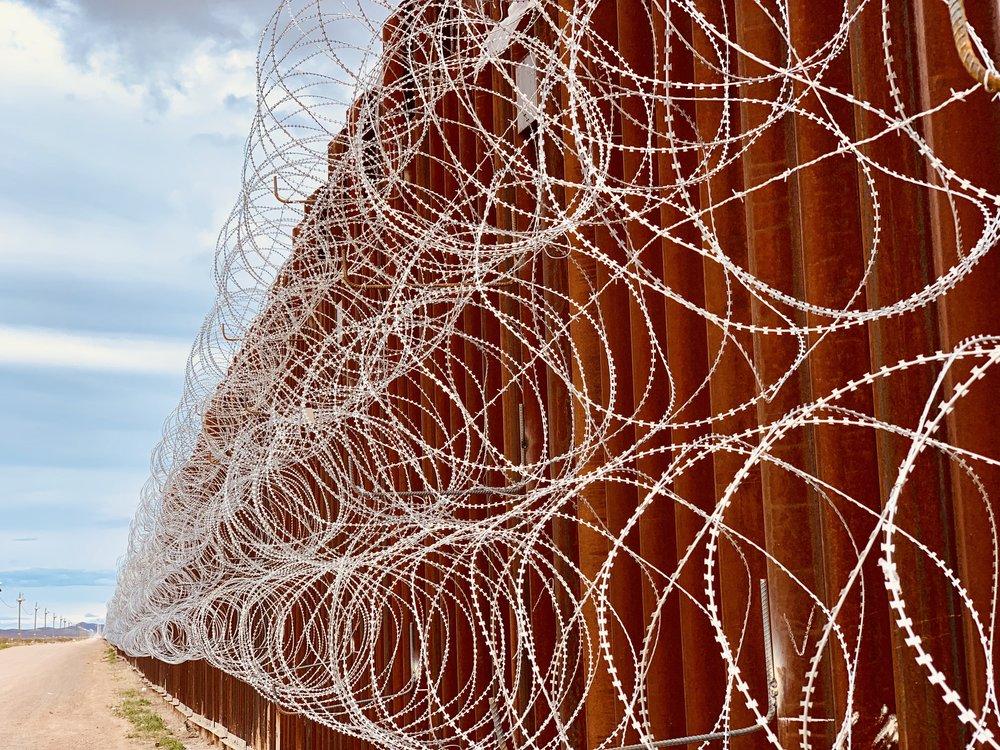 The Border Fence in Doulgas, AZ