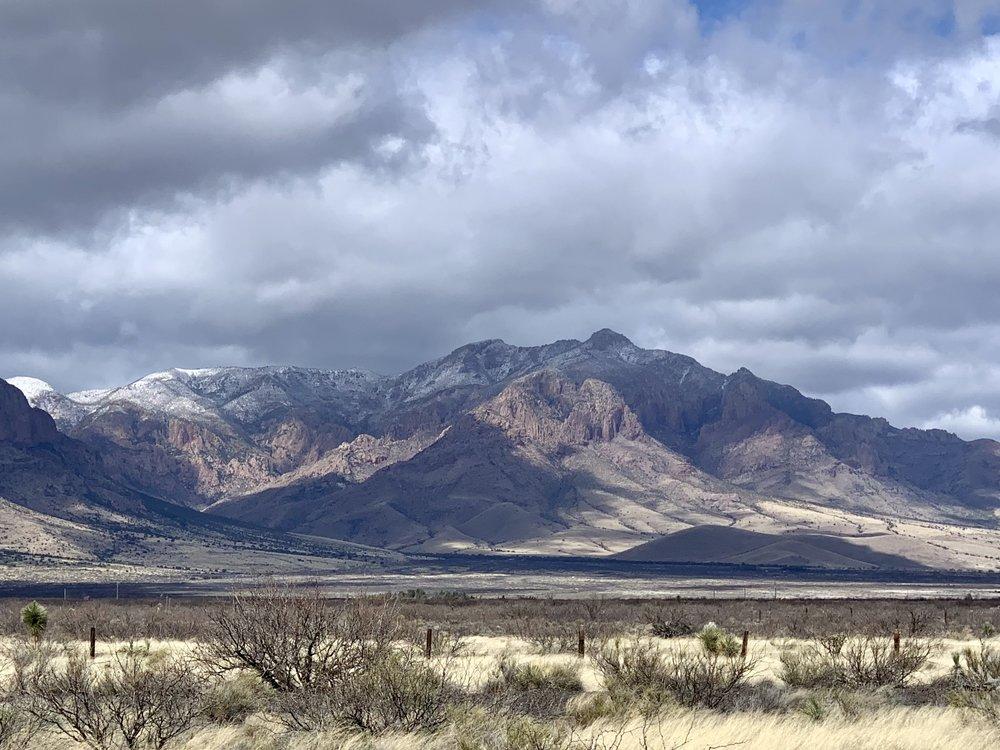 The Chiricahua Mountains near Rodeo, NM.