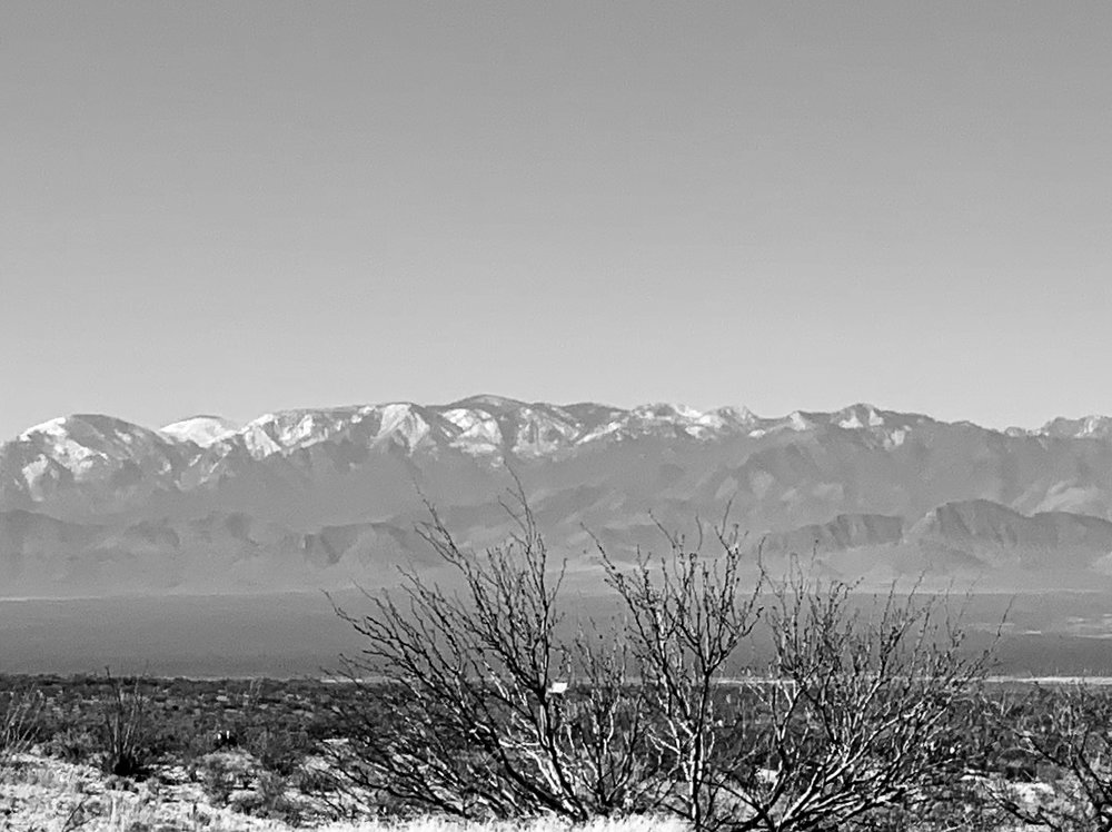 The Chiricahua Mountains on the way to Lordsburg.