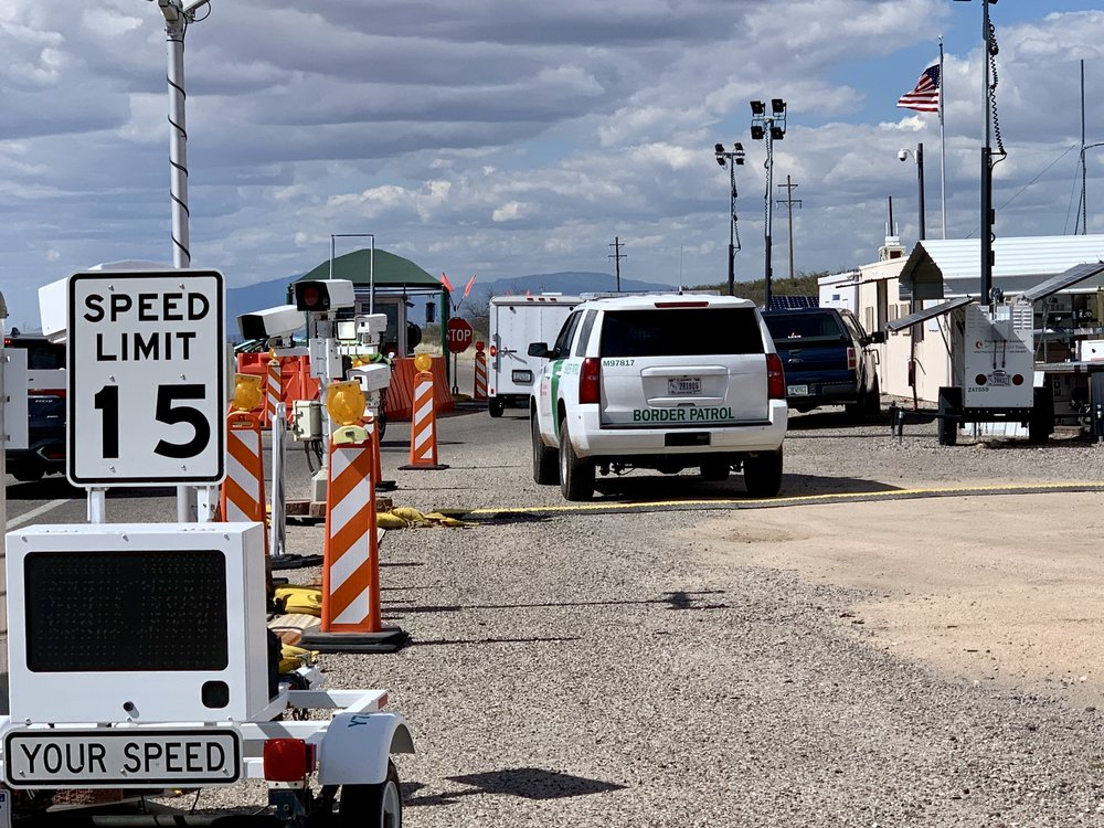 One of hundreds of checkpoints on a north/south road just south of Interstate 10. They are intended to keep migrants from gaining access to our interstate system. I've passed through several. Each time I've asked the agents if it was busy that day, and each time the answer was no.
