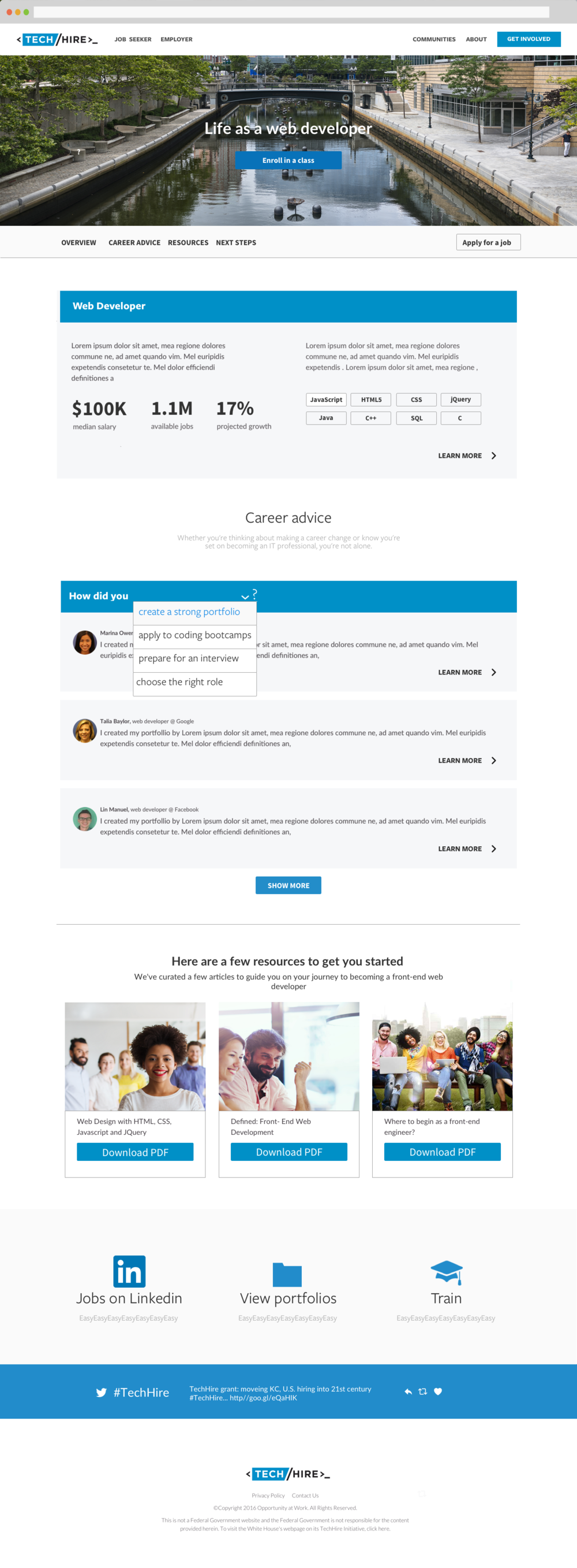 4 Explore The Jobs_Web Developer Job Detail Page with Career Advice dropdown.png