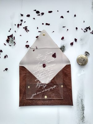 Acrylic And Leather Invitation