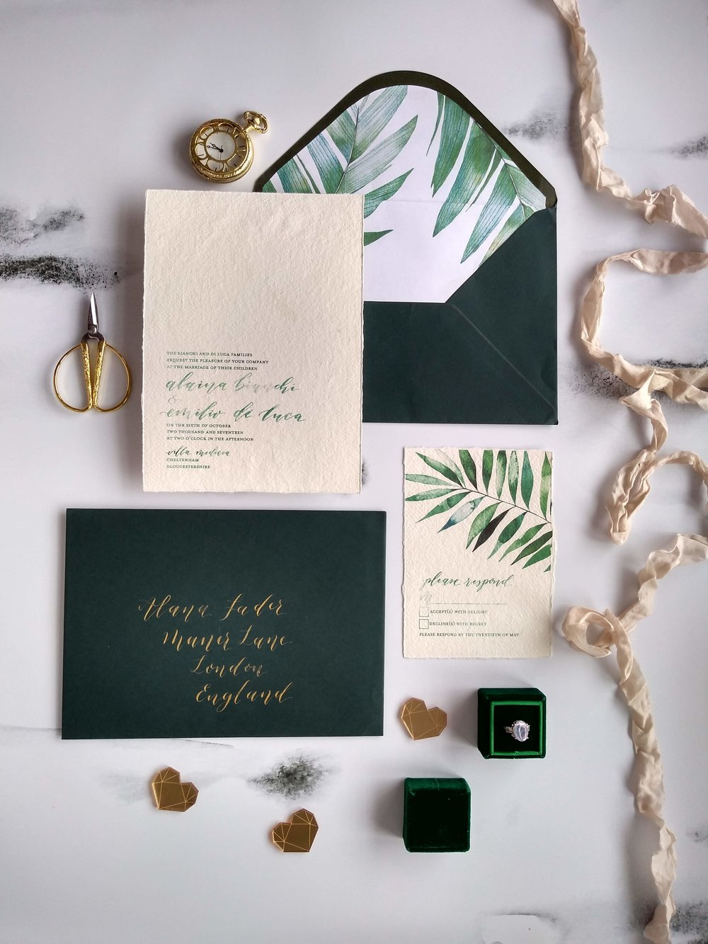 Minimalist modern calligraphy invitation