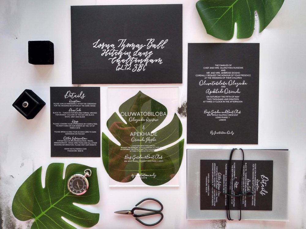 Modern Acrylic Wedding Invitation