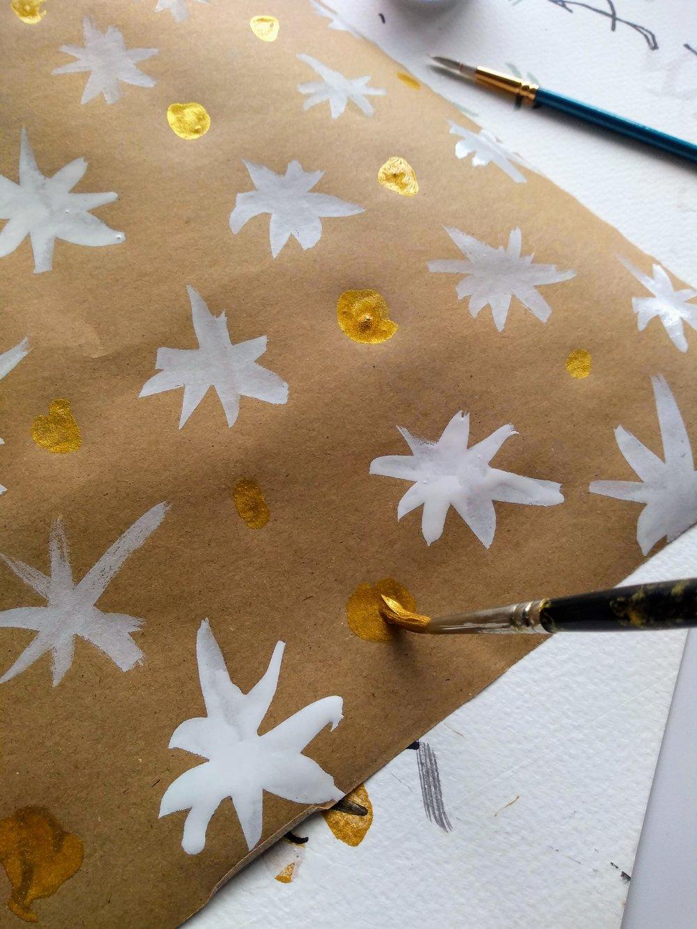 DIY Painterly Gift Wrap