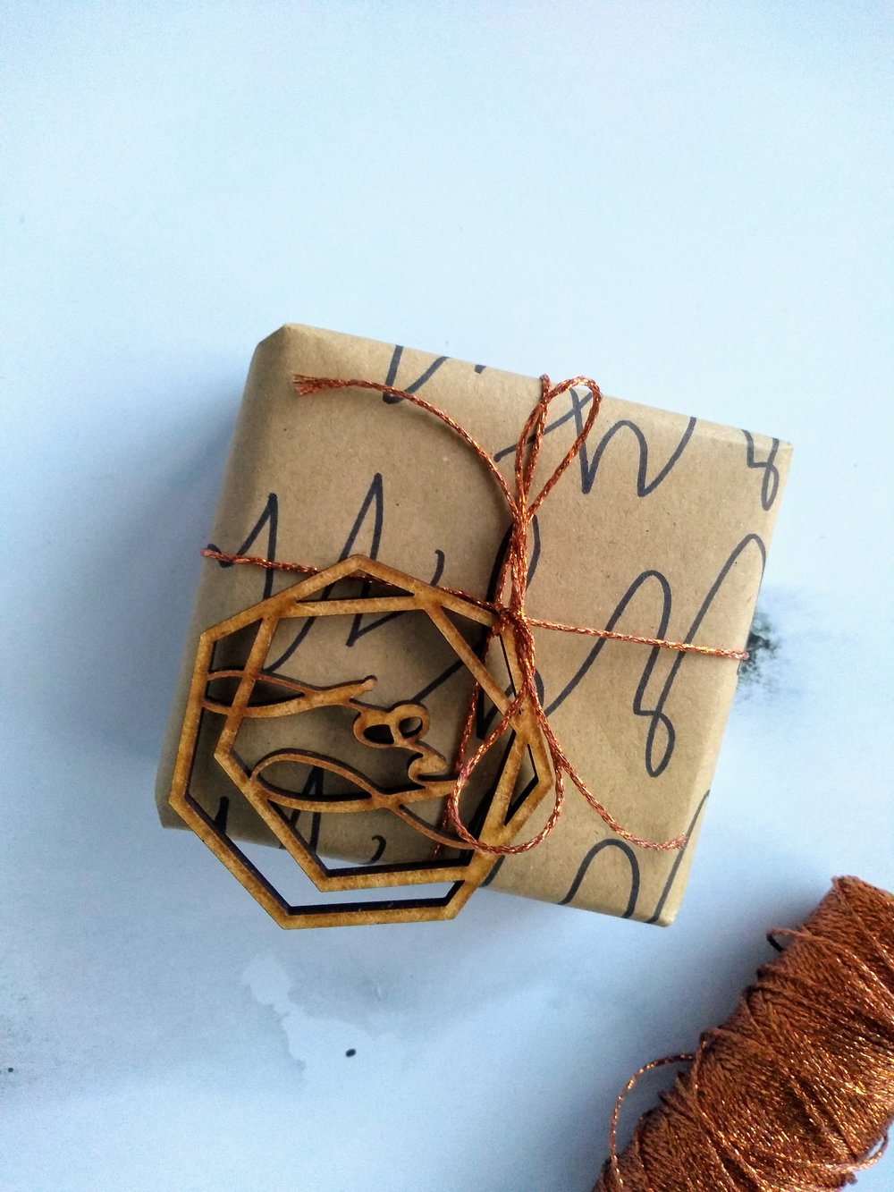 DIY gift wrap tutorial