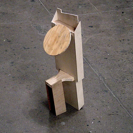 "Hans Accola, Strange Saint , 2002, Wood, 26"" x 8"" x 9"""