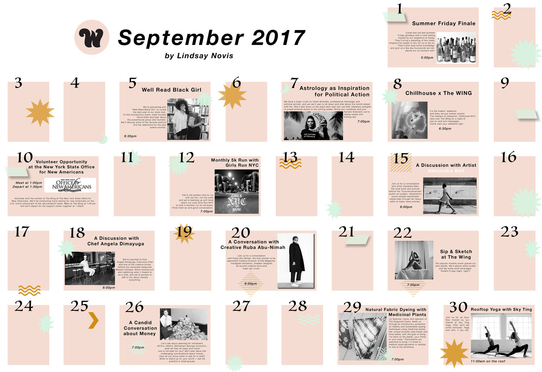 calendar exercise lindsay novis