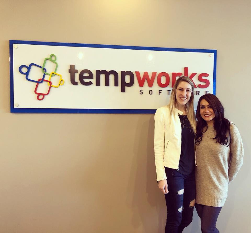 Pictured: Shannon Volltrauer (BCE) with Laura Dourgarian (TempWorks)