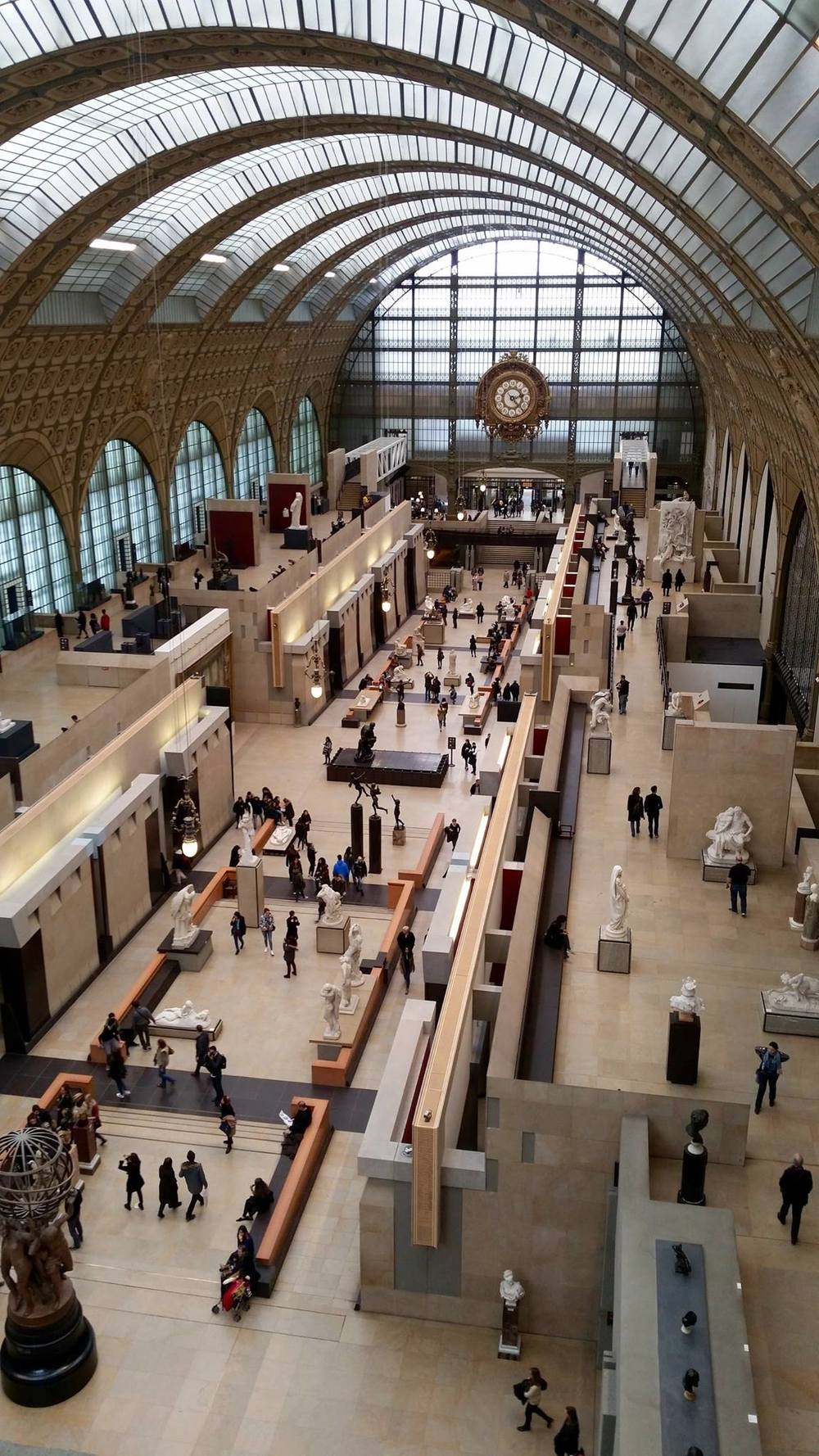The Orsay Museum. Only 4 floors of art, but probably room for at least 4 more. I'm glad they kept the space open to the natural light and exposed the feel that the train station used to have.
