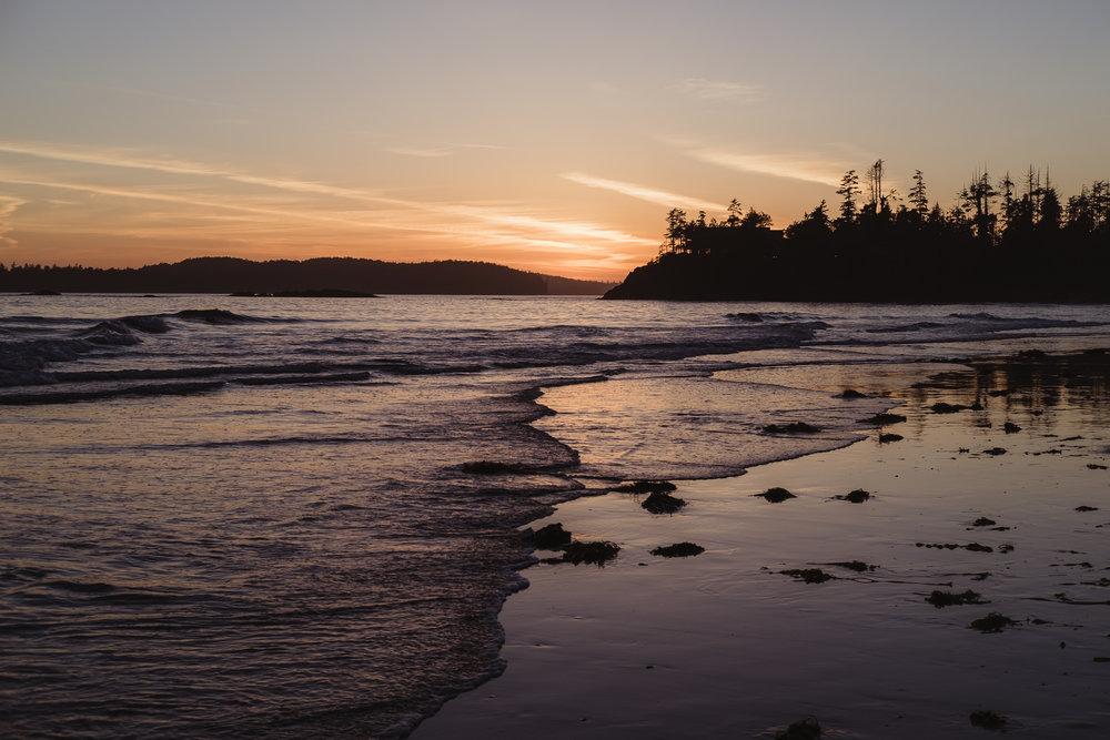Sunset at Chesterman Beach, Tofino