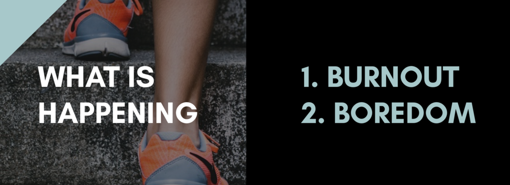 If something takes us away from an experience at a low-point, we're more likely to give it up.