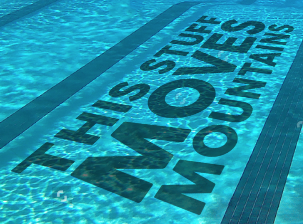 Clings on the bottom of pools that license our poles, promoting aquatic fitness