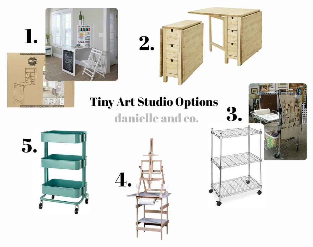 Tiny art studio options
