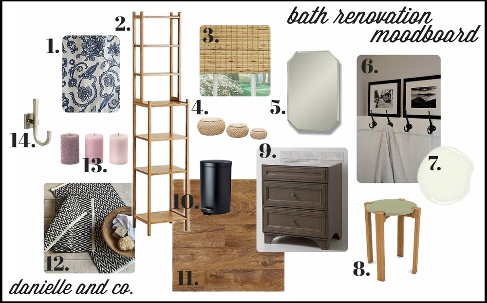 Bathroom moodboard from Danielle and Co.
