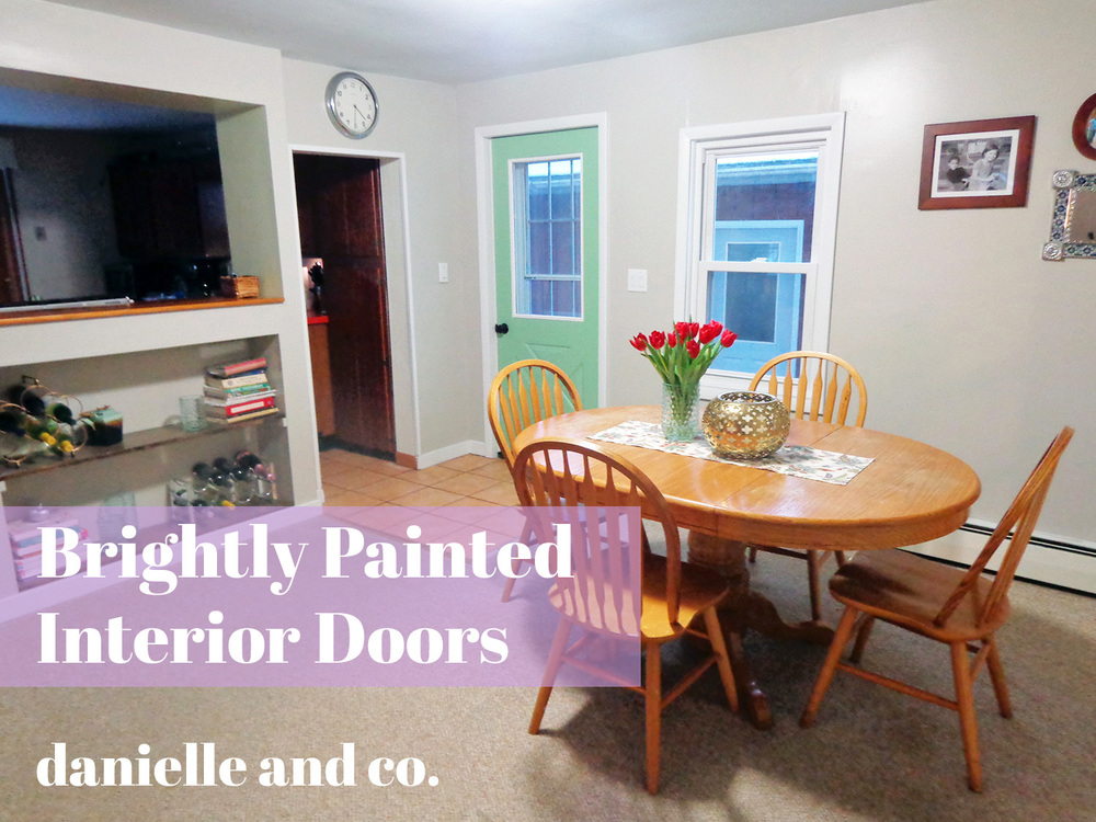 Brightly painted interior doors, via danielleandco.com