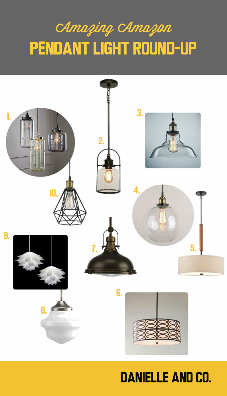 10 style pendant light options available on Amazon - they may surprise you! Style round-up from danielle and co.