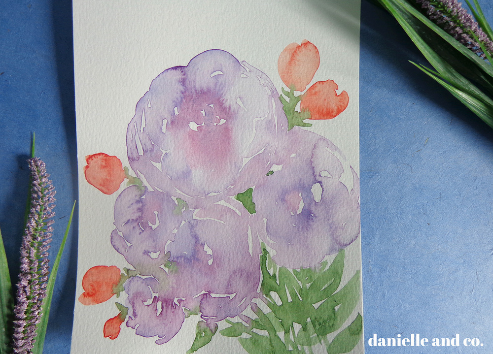 A little & experimental watercolor series, plus a dose of self-doubt and how to work through it - from danielle and co.