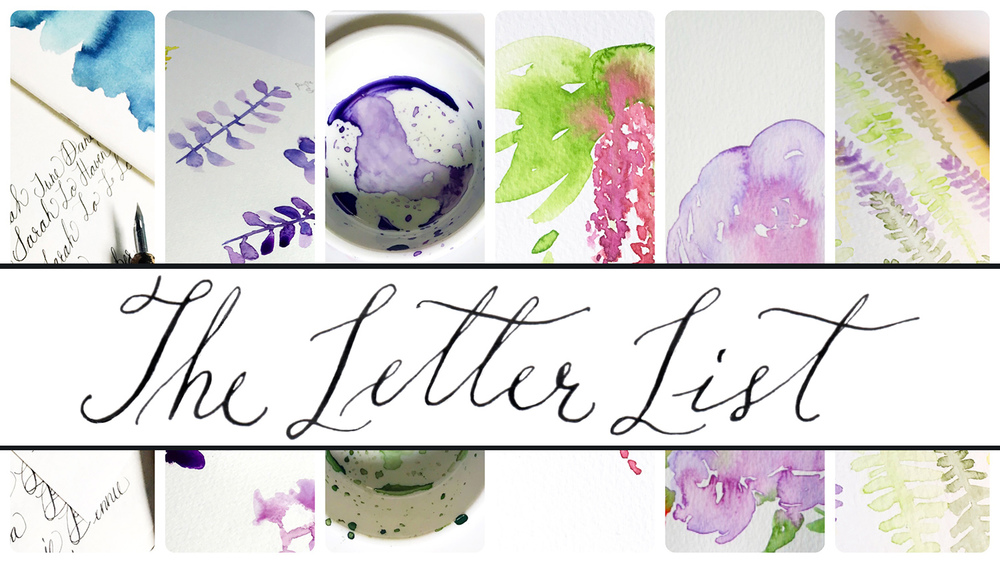 The Letter List, Volume One - a round-up of cool stuff related to watercolor, calligraphy, art, design, and more from danielleandco.com