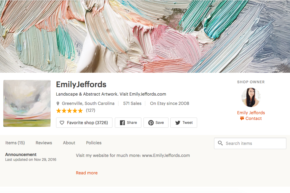 Emily Jefford's Etsy Shop